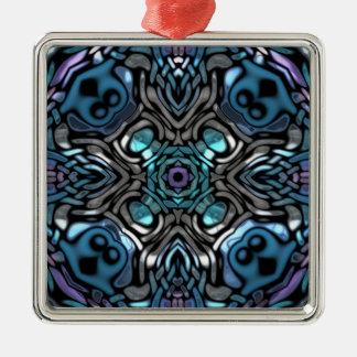 素晴らしく青い万華鏡のように千変万化するパターンパターン メタルオーナメント