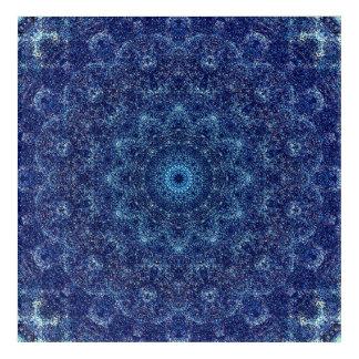 素晴らしく青い曼荼羅の芸術 アクリルウォールアート