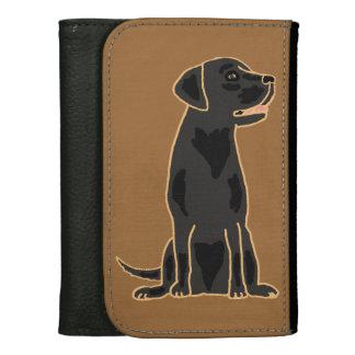 素晴らしく黒いラブラドール犬の財布