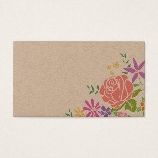 素朴でかわいらしい花の歌の要求結婚式の招待状 名刺