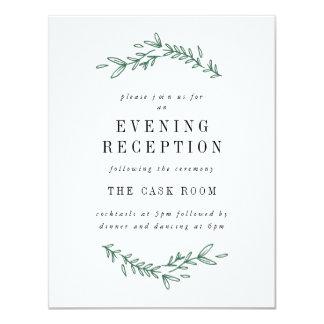 素朴でエレガントな花のモノグラムの披露宴カード カード
