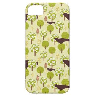 素朴でシックなすずめのつばめの鳥のぼろぼろのパターン iPhone SE/5/5s ケース