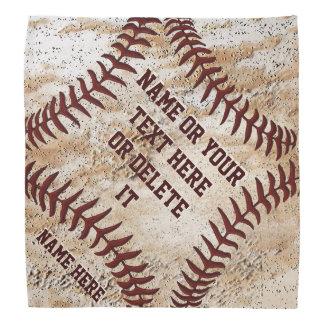 素朴で名前入りな野球のバンダナのハンカチーフ ハンカチーフ