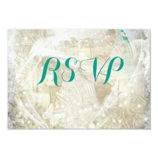 素朴で名前入りなRSVP カード
