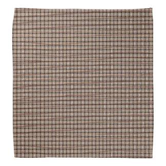素朴で抽象的なバーラップのブラウンタンの織り方のバンダナ バンダナ