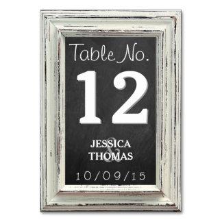 素朴で白いフレーム及び黒板の結婚式のコレクション カード