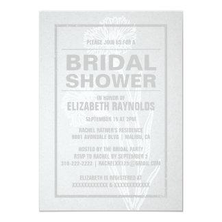 素朴で白いブライダルシャワー招待状 カード