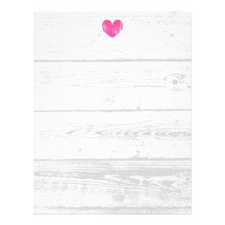 素朴で白い木製の穀物ライン結婚式レターヘッド レターヘッド