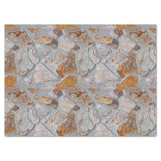 素朴で自然な石造りのモザイク・タイルパターン 薄葉紙