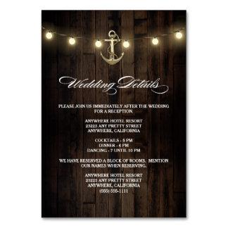 素朴で航海のな結婚披露宴 + ホテルカード カード