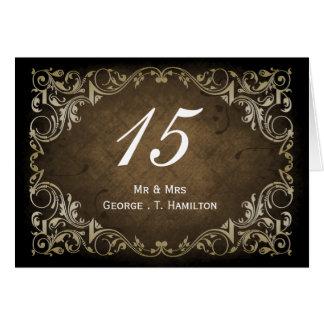 素朴で豪奢な装飾用のブラウンおよび金ゴールドの結婚 カード