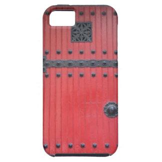 素朴で赤い教会ドアのiPhone 5の箱 iPhone SE/5/5s ケース