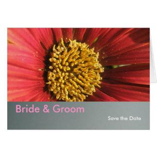 素朴で赤い結婚式 カード
