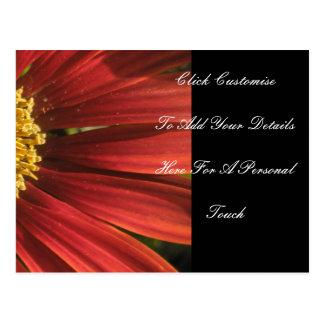 素朴で赤い結婚式 ポストカード
