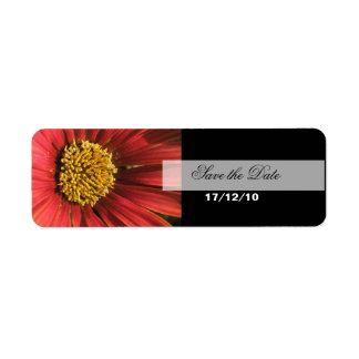 素朴で赤い結婚式 返信用宛名ラベル
