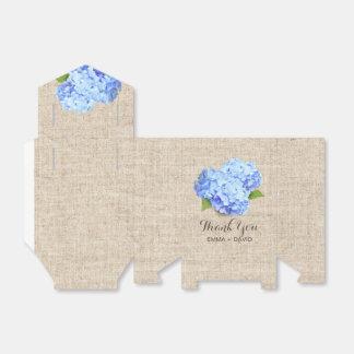 素朴で青いアジサイの花のバーラップは感謝していしています フェイバーボックス