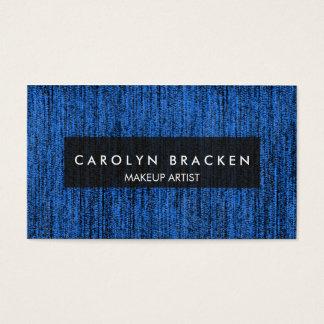素朴で青いロープパターン名刺 名刺