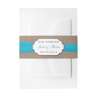 素朴で青い弓結婚式のコレクション 招待状ベリーバンド