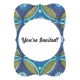 素朴で青および緑デザイナーパターンエジプト人 カード