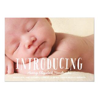 素朴で風変わりな の写真の誕生の発表 カード