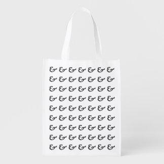 素朴で黒い凸版印刷のアンパーサンド エコバッグ