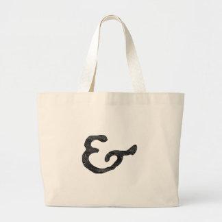 素朴で黒い凸版印刷のアンパーサンド ラージトートバッグ