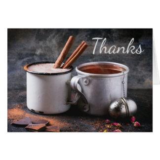 素朴なお茶およびココアは感謝していしています カード