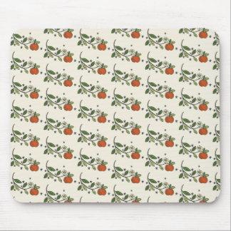 素朴なりんごの枝スケッチパターンmousepad マウスパッド
