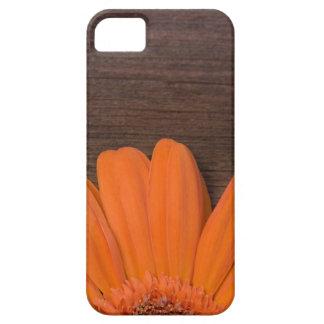 素朴なオレンジデイジーのiPhone 5の穹窖 iPhone SE/5/5s ケース