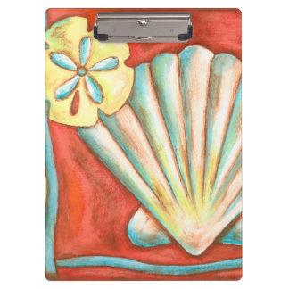 素朴なオレンジ貝殻 クリップボード