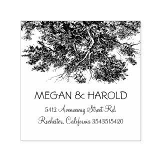 素朴なオークの木の枝 セルフインキングスタンプ