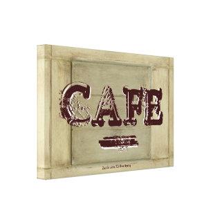 素朴なカフェの台所キャンバスのプリント-老化させたペンキ キャンバスプリント