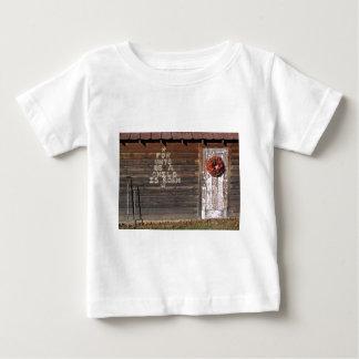 素朴なクリスマスの落書き ベビーTシャツ