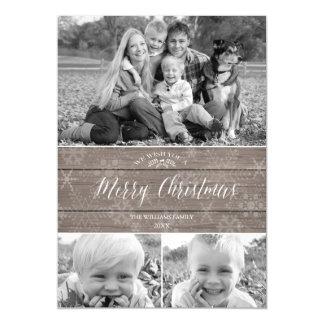 素朴なクリスマス磁気写真カード マグネットカード