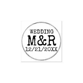 素朴なゴム印を結婚するDIY -あなたの詳細を加えて下さい ラバースタンプ