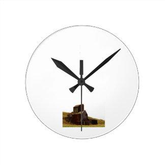 素朴なサイロの時計 ラウンド壁時計