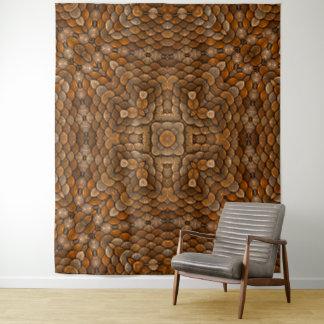 素朴なスケールのヴィンテージの万華鏡のように千変万化するパターンの壁のタペストリー タペストリー