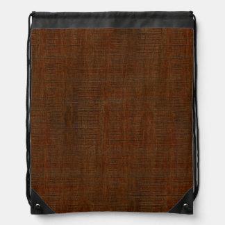 素朴なタケ木製の穀物の質の一見 ナップサック