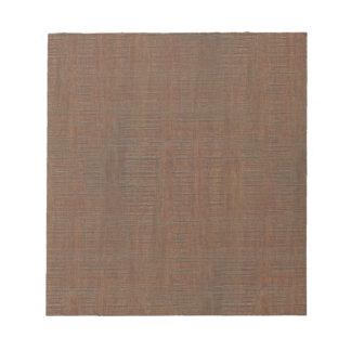 素朴なタケ木製の穀物の質の一見 ノートパッド