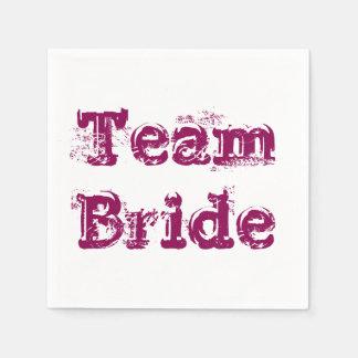 素朴なチーム花嫁または新郎の結婚式のナプキンのヴィンテージ スタンダードカクテルナプキン