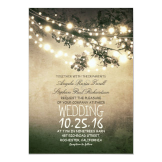 素朴なツリーブランチおよびライトヴィンテージの結婚 カード