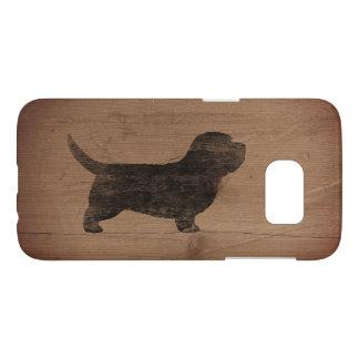 素朴なバセット犬のGriffon小さいVendeenのシルエット Samsung Galaxy S7 ケース