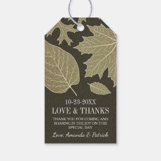 素朴なバーラップの紅葉の結婚は付きます感謝していしています ギフトタグパック