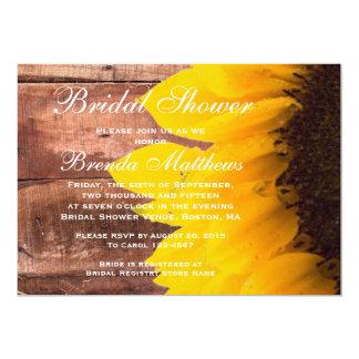 素朴なヒマワリのブライダルシャワーの招待状 カード