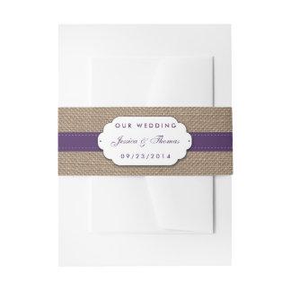 素朴なヒマワリの結婚式のコレクション-紫色 招待状ベリーバンド