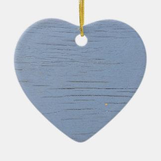 素朴なビーチ木(青い) セラミックオーナメント