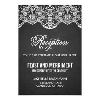 素朴なブロケードのレースの結婚披露宴カード カード