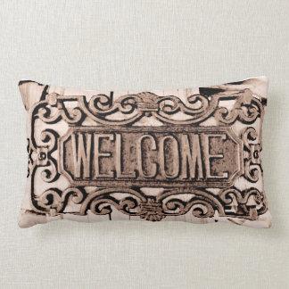 素朴なプリントの歓迎の枕 ランバークッション