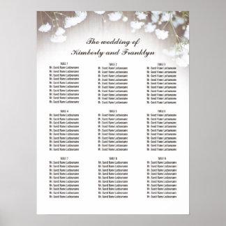 素朴なベビーの呼吸国の結婚式の座席の図表 プリント