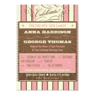 素朴なポスター: いちごのムースのカスタムな結婚式 カード